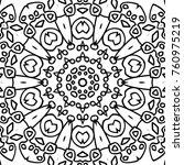 coloring page for adults. a... | Shutterstock .eps vector #760975219
