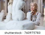 Portrait Of Woman Visitor Near...