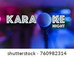 karaoke night party text   Shutterstock . vector #760982314