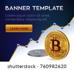 cryptocurrency editable banner... | Shutterstock .eps vector #760982620
