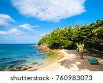 divine shoreline hideaway scene  | Shutterstock . vector #760983073