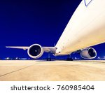 commercial airplane   retro... | Shutterstock . vector #760985404