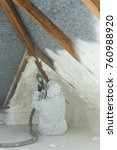 spray polyurethane foam for... | Shutterstock . vector #760988920