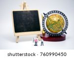 miniature people   teacher with ... | Shutterstock . vector #760990450