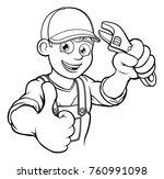 a mechanic or plumber handyman...   Shutterstock .eps vector #760991098