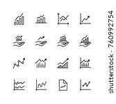 growth icon set. collection of... | Shutterstock .eps vector #760992754
