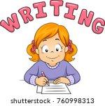 illustration of a kid girl... | Shutterstock .eps vector #760998313