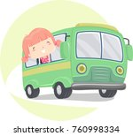 illustration of a kid girl... | Shutterstock .eps vector #760998334