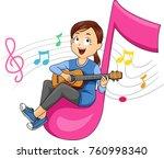 illustration of a kid girl...   Shutterstock .eps vector #760998340