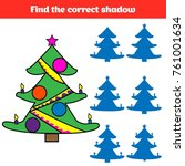 shadow matching game for... | Shutterstock .eps vector #761001634