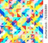 abstract 1980 memphis geometric ...   Shutterstock .eps vector #761006884