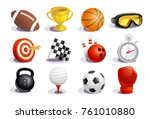 sport symbols and icons vector... | Shutterstock .eps vector #761010880