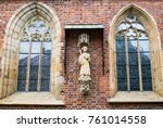 partial view of the brick... | Shutterstock . vector #761014558