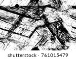 grunge black and white pattern. ... | Shutterstock . vector #761015479