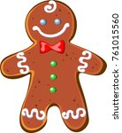 christmas gingerbread. the... | Shutterstock .eps vector #761015560