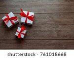 christmas decoration  white... | Shutterstock . vector #761018668