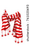 red striped scarf. christmas... | Shutterstock .eps vector #761020693