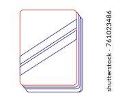 isolated book design | Shutterstock .eps vector #761023486