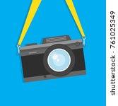 retro  vintage camera  flat... | Shutterstock .eps vector #761025349