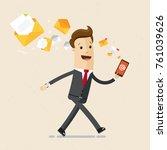 businessman walk with a... | Shutterstock .eps vector #761039626