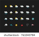 weather colorful icons for web... | Shutterstock .eps vector #761043784