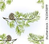 Seamless Texture Pine Tree And...