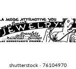 wear smart jewelry   retro ad... | Shutterstock .eps vector #76104970
