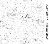 grunge black and white pattern. ... | Shutterstock . vector #761050390