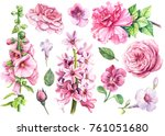 watercolor hand drawing ... | Shutterstock . vector #761051680