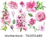 watercolor hand drawing ... | Shutterstock . vector #761051680