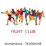 fight club. boxing vector... | Shutterstock .eps vector #761064148