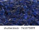 broken glass many color pieces...   Shutterstock . vector #761075899