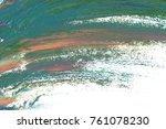 colorful oil art stroke design... | Shutterstock . vector #761078230