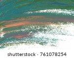 colorful oil art stroke design... | Shutterstock . vector #761078254
