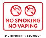 prohibition sign no smoking  no ... | Shutterstock .eps vector #761088139