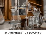 old science workbench made out... | Shutterstock . vector #761092459