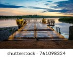 Small photo of Early morning ferry crossing over the Nile in Murchison Falls national park in Uganda. Too bad this place is endangered by oil drilling companies