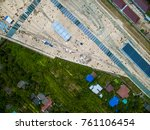 top view from drone. | Shutterstock . vector #761106454