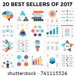 vector infographics set. 20... | Shutterstock .eps vector #761115526