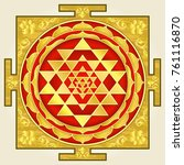 yantra laksmi  a symbol of... | Shutterstock .eps vector #761116870