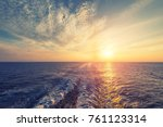 sea and waves wave caused by... | Shutterstock . vector #761123314