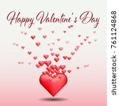 happy valentine's day card... | Shutterstock .eps vector #761124868