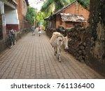 gokarna india. streets of the...   Shutterstock . vector #761136400