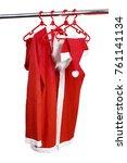 santa clause costume on white... | Shutterstock . vector #761141134