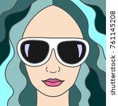 vector illustration cartoon... | Shutterstock .eps vector #761145208