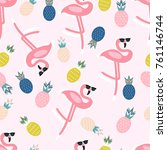 Summer Pattern. Flamingo ...