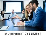business people working... | Shutterstock . vector #761152564