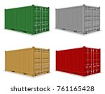 cargo container for the... | Shutterstock .eps vector #761165428