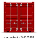 cargo container for the...   Shutterstock .eps vector #761165434