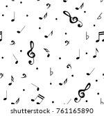 abstract music seamless pattern ...   Shutterstock .eps vector #761165890